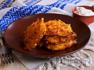 Рецепта Картофени рьощи - лесни постни картофени кюфтета на ренде без яйца и без лук на фурна